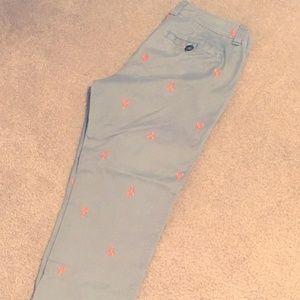 Old Navy embroidered khaki lobster pants